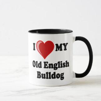 I Liebe (Herz) mein alter englischer Tasse