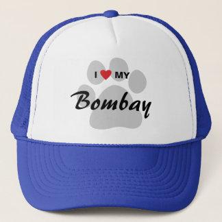 I Liebe (Herz) mein Bombay Pawprint Truckerkappe