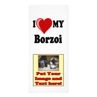 I Liebe (Herz) mein Borzoi-Hund Werbekarte