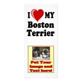 I Liebe (Herz) mein Boston-Terrier-Hund Werbekarte