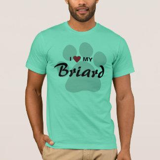 I Liebe (Herz) mein Briard Hundeliebhaber-Shirt T-Shirt