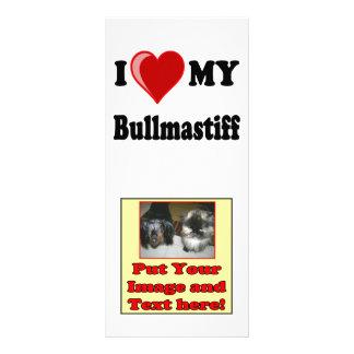 I Liebe (Herz) mein Bullmastiff Hund Werbekarte