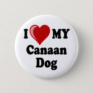 I Liebe (Herz) mein Canaan Hund Runder Button 5,1 Cm