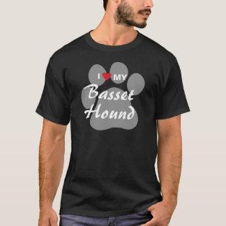 I Liebe (Herz) mein Dachshund-Jagdhund Pawprint T-Shirt