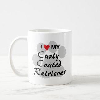 I Liebe (Herz) mein gelockter überzogener Retrieve Tee Tasse