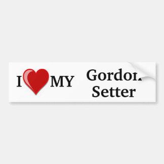 I Liebe (Herz) mein Gordon-Setzer-Hund Autoaufkleber