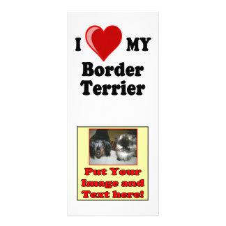 I Liebe (Herz) mein Grenzterrier-Hund Werbekarte