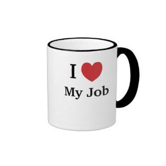 I Liebe (Herz) mein Job - lustige Gründe warum! Ringer Tasse