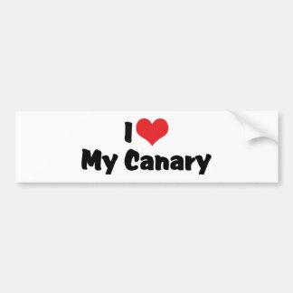 I Liebe-Herz mein Kanarienvogel - Vogel-Liebhaber Autoaufkleber
