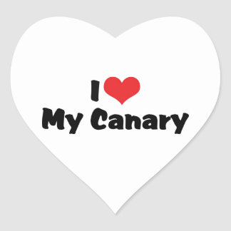 I Liebe-Herz mein Kanarienvogel - Vogel-Liebhaber Herz-Aufkleber