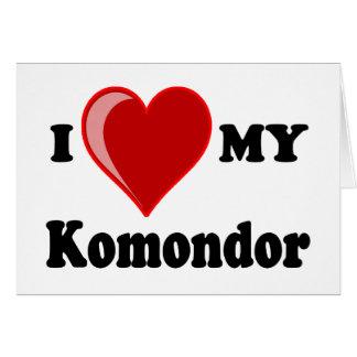 I Liebe (Herz) mein Komondor Hund Karte