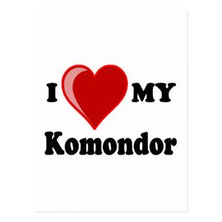 I Liebe (Herz) mein Komondor Hund Postkarte