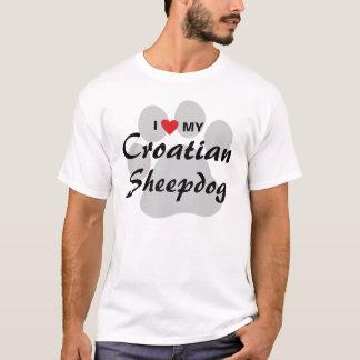 I Liebe (Herz) mein kroatisches Schäferhund-Shirt T-Shirt