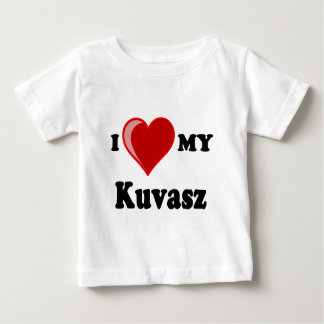 I Liebe (Herz) mein Kuvasz Hund Baby T-shirt