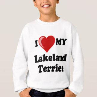 I Liebe (Herz) mein Lakeland-Terrier-Hund Sweatshirt