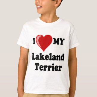 I Liebe (Herz) mein Lakeland-Terrier-Hund T-Shirt