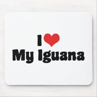 I Liebe-Herz mein Leguan - Eidechsen-Liebhaber Mousepad