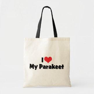 I Liebe-Herz mein Parakeet - Papageien-Liebhaber Tragetasche