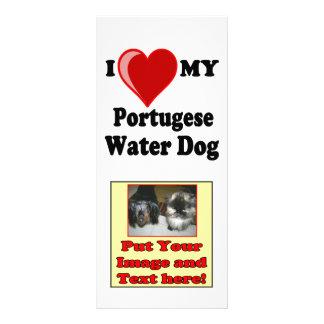 I Liebe (Herz) mein portugiesischer Wasser-Hund Werbekarte