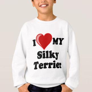 I Liebe (Herz) mein seidiger Terrier-Hund Sweatshirt