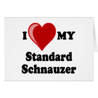 I Liebe (Herz) mein Standardschnauzer-Hund Karte