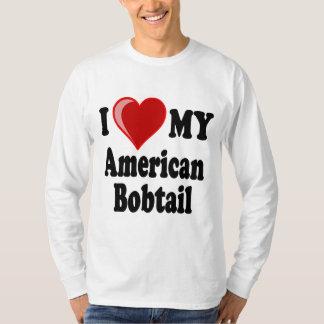 I Liebe (Herz) meine amerikanische Bobtail Katze T-Shirt