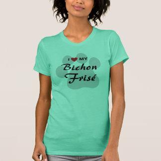 I Liebe (Herz) meine Bichon Frisé Hundeliebhaber T-Shirt