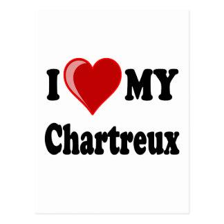 I Liebe (Herz) meine Chartreux Katze Postkarte