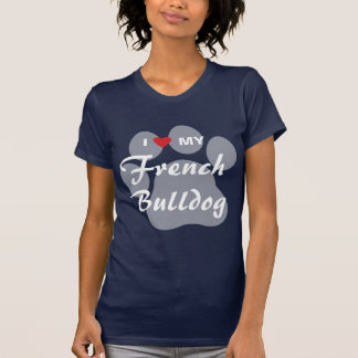 I Liebe (Herz) meine französische Bulldogge T-Shirt