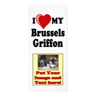 I Liebe (Herz) meine HundeFoto-Karte Brüssels Werbekarte