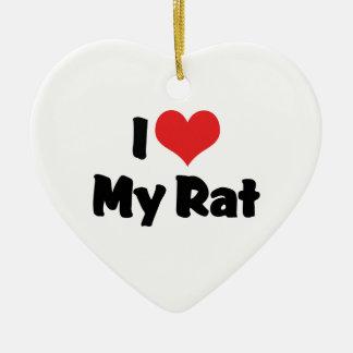 I Liebe-Herz meine Ratte Keramik Ornament