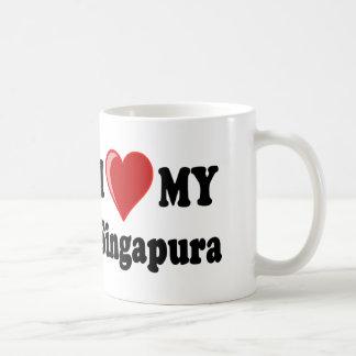 I Liebe (Herz) meine Singapura Katze Kaffeetasse