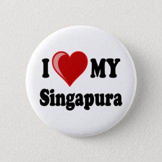 I Liebe (Herz) meine Singapura Katze Runder Button 5,1 Cm