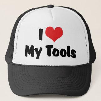 I Liebe-Herz meine Werkzeuge - Truckerkappe