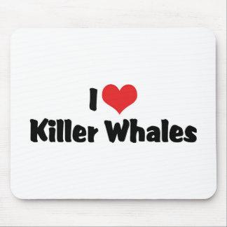 I Liebe-Herz-Mörder-Wale Mousepad