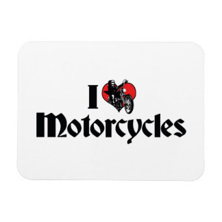I Liebe-Herz-Motorräder Magnet