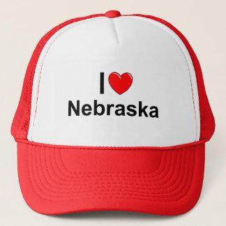 I Liebe (Herz) Nebraska Truckerkappe