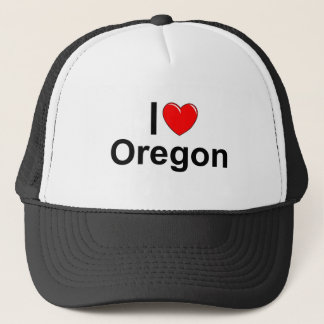 I Liebe (Herz) Oregon Truckerkappe