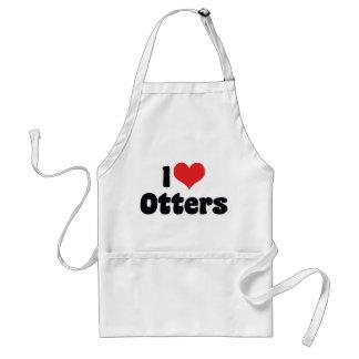 I Liebe-Herz-Otter Schürze
