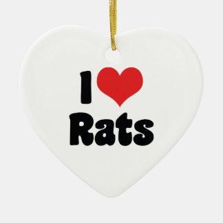 I Liebe-Herz-Ratten - Haustier-Ratten-Liebhaber Keramik Ornament