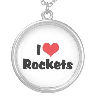 I Liebe-Herz Rockets - Raum-Erforschung Versilberte Kette
