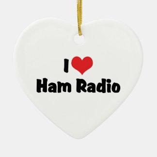 I Liebe-Herz-Schinken-Radio - Keramik Herz-Ornament