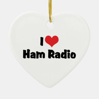 I Liebe-Herz-Schinken-Radio - Keramik Ornament