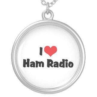 I Liebe-Herz-Schinken-Radio - Versilberte Kette