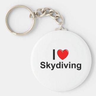 I Liebe-Herz Skydiving Schlüsselanhänger