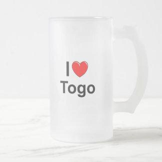 I Liebe-Herz Togo Mattglas Bierglas