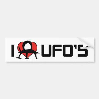 I Liebe-Herz UFO - alien-Liebhaber Roswell Autoaufkleber