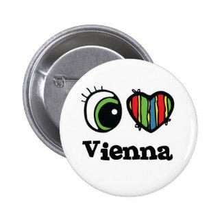 I Liebe (Herz) Wien Runder Button 5,7 Cm