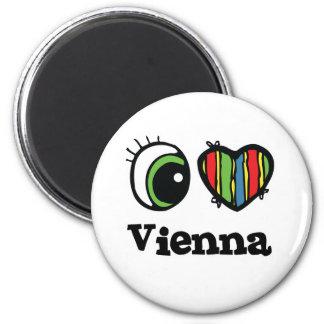 I Liebe (Herz) Wien Runder Magnet 5,1 Cm