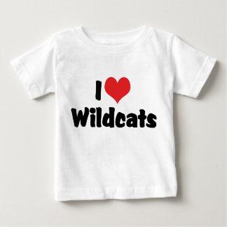 I Liebe-Herz-Wildkatzen Baby T-shirt
